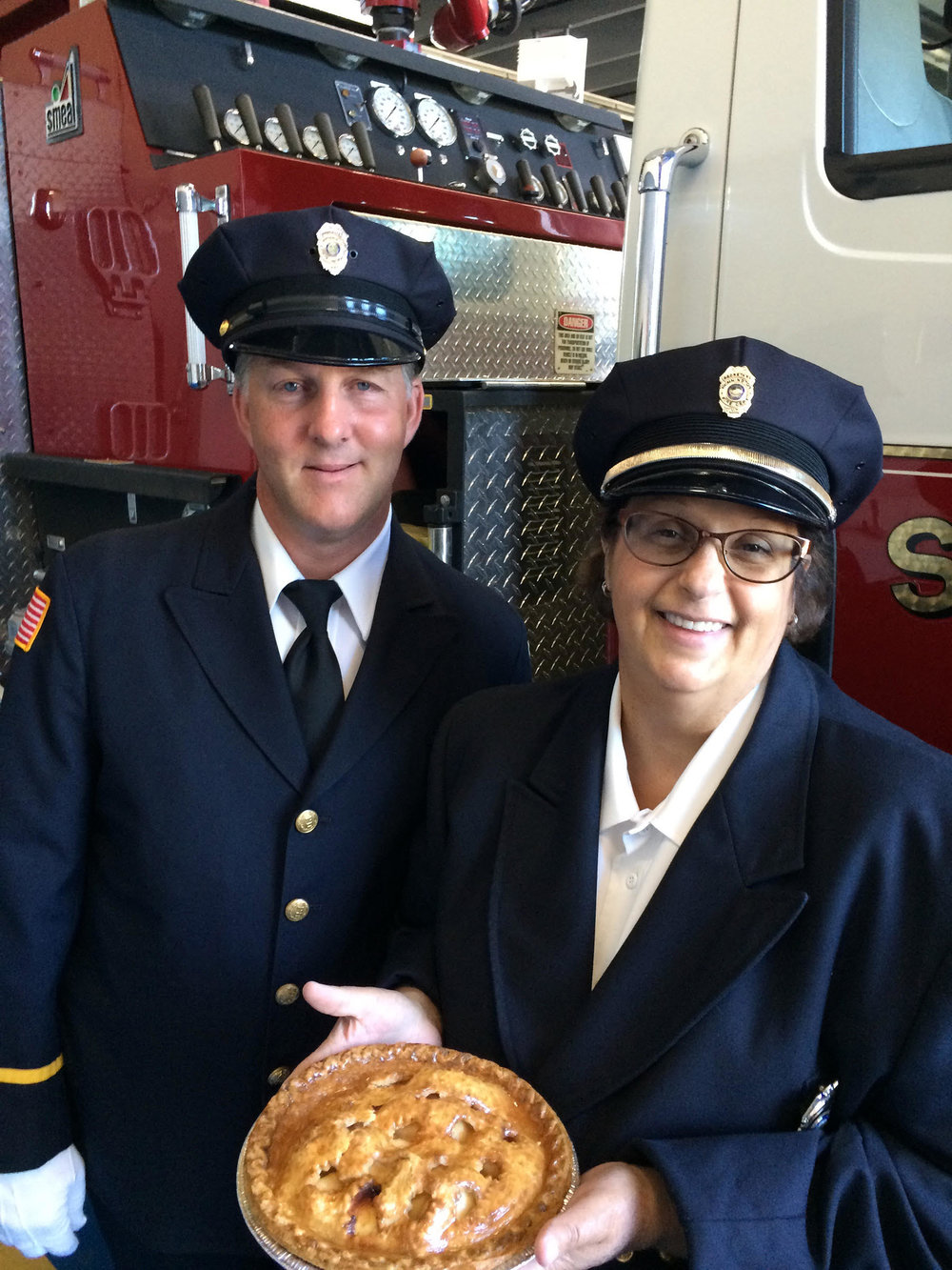 Bill Clark and Mary Crawford of the Bennington Fire Department invite the community to the  Battle of the Pies  event on August 18th as part of the Battle Day Celebrations.