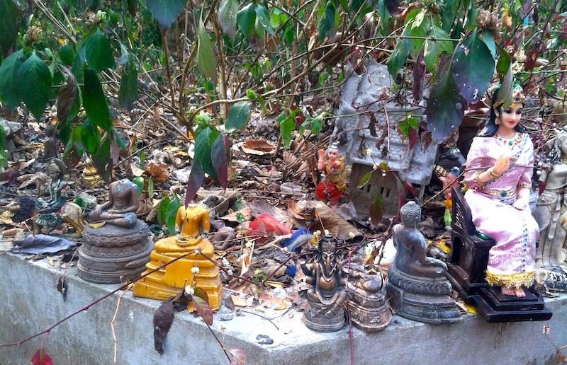 Wat Umong's Broken Buddha Garden