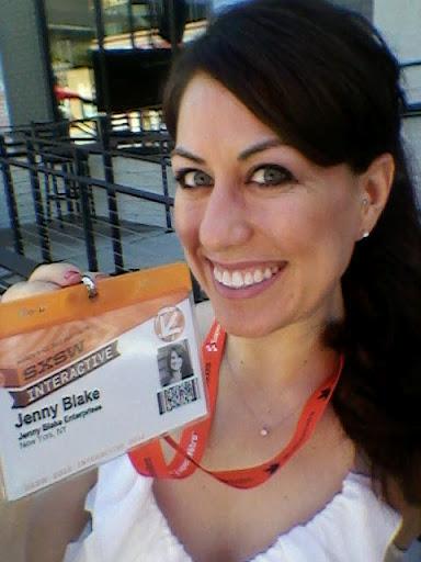 Jenny Blake - SXSW 2012 - First year at SXSW as JBE!!