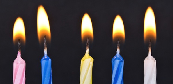 birthday candles - make a wish!