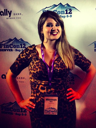 Shannyn Allen - getting ready to speak at FINCON this year