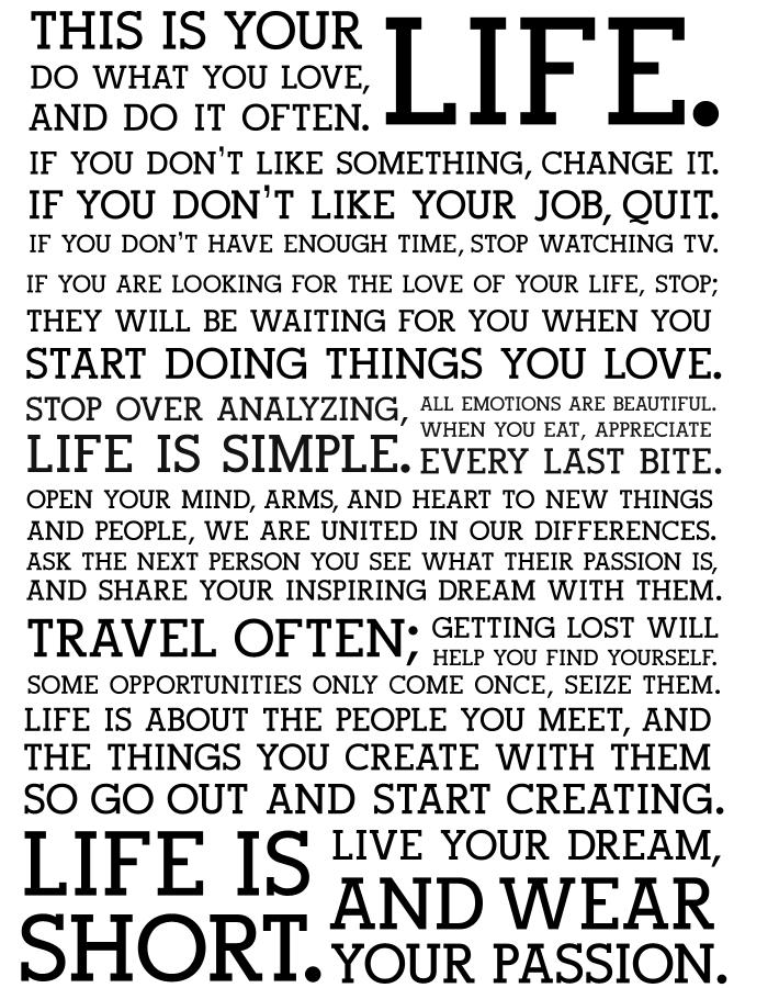 Holstee Manifesto