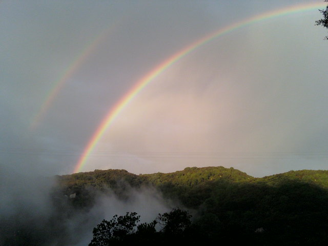 Double Rainbow from White Lotus