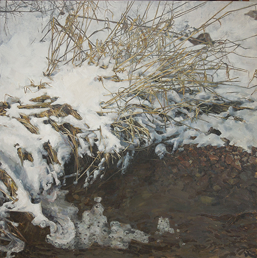 Winter (Creek), oil on canvas, 32 1/4 x 32 1/4, $4,200