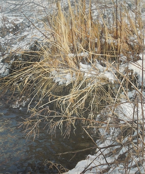 Winter (Creek 2), oil on canvas, 36 x 30, SOLD
