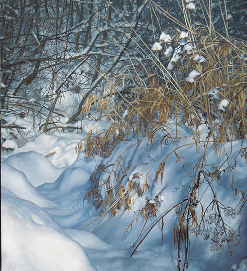 Winter (Churning), oil on canvas, 42 x 38, $6,800
