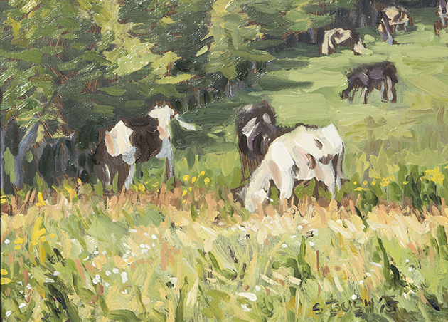 Pasture, oil on panel, 5 x 7, $250 framed