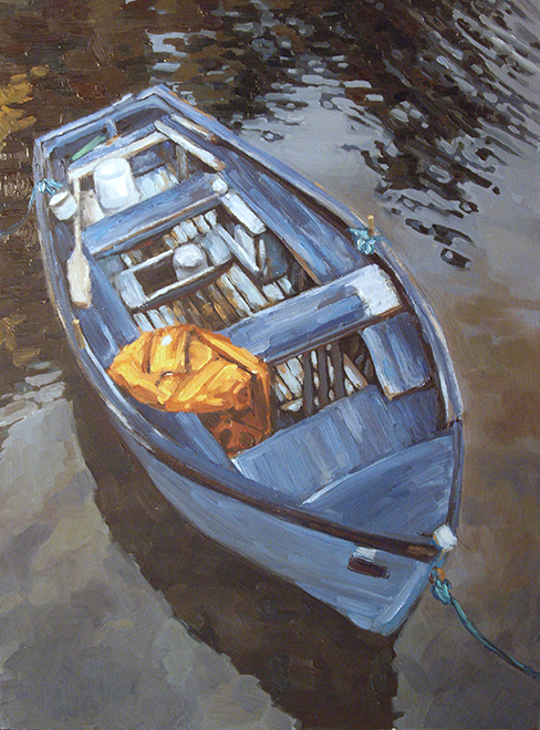 Drovers Boat, oil on panel, 16 x 12, NFS