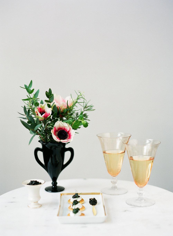 black wedding reception design