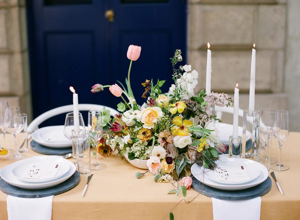 modern wedding reception design