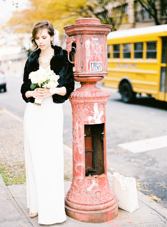 new york city bridal street photography
