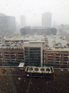 In snowed in Minneapolis. This is not what April Showers is supposed to mean.