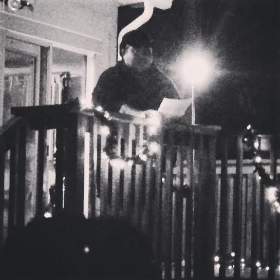 Hieu Minh Nguyen reading at the Dark Noise fish fry