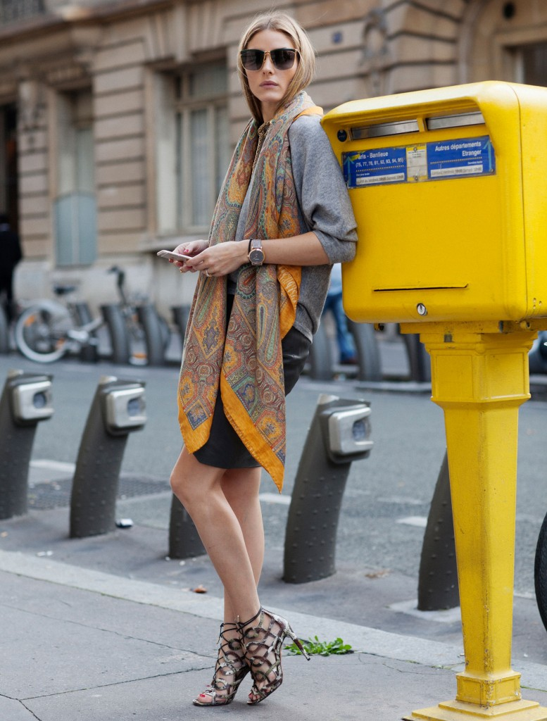 The City: Olivia Palermo - If the big city is your destination this summer, Olivia Palermo is your muse. The American Socialite's statement scarves and structured heels are perfect for strutting down streets, going for drinks with friends and attracting glances. Photo by Phill Taylor.