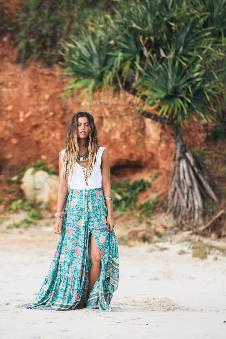 The Seaside: Mimi Elashiry - If you're lucky enough to be by or on a boat this summer, you can be a seaside sartorialist like Mimi Elashiry. The Australian's signature boho look of maxi skirts and flowing tops is perfect for any beach getaway.Photo by Johnny Abegg for Turquoise Lane.