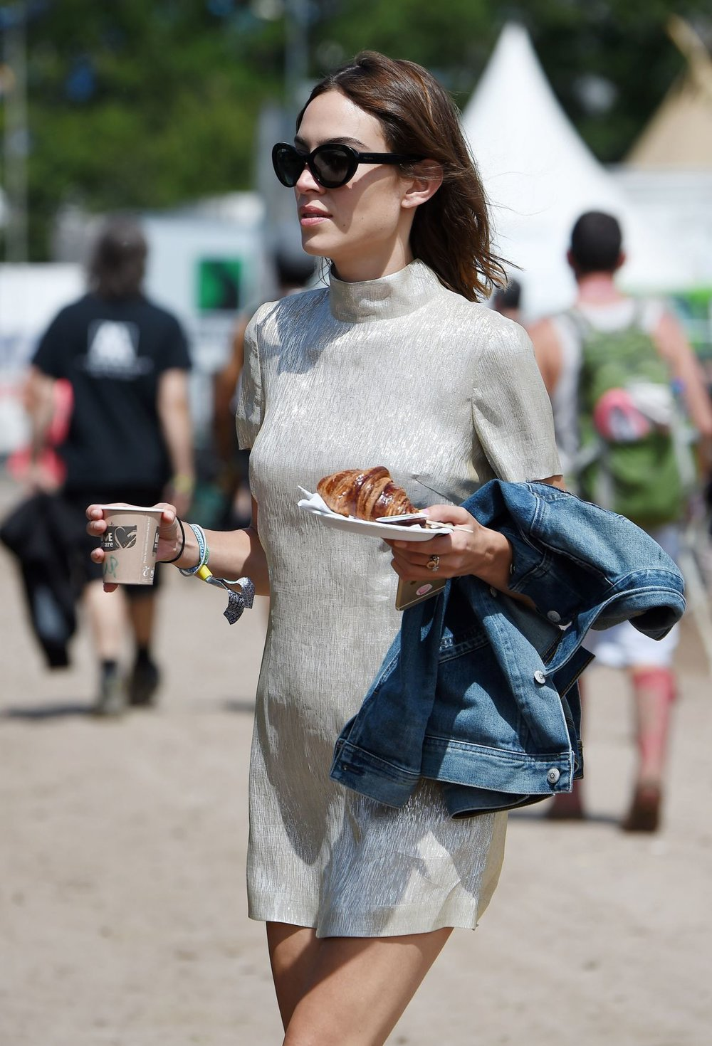The Festival Field: Alexa Chung - Whether rocking and rolling in the mud or dancing with daisies in the field, festival fashion can be epitomised by Alexa Chung's stylish dress and denim combinations. The British starlet is all of the three Cs while enjoying festivals: cool, chic and comfortable. Pictured at Glastonbury Festival 2015.