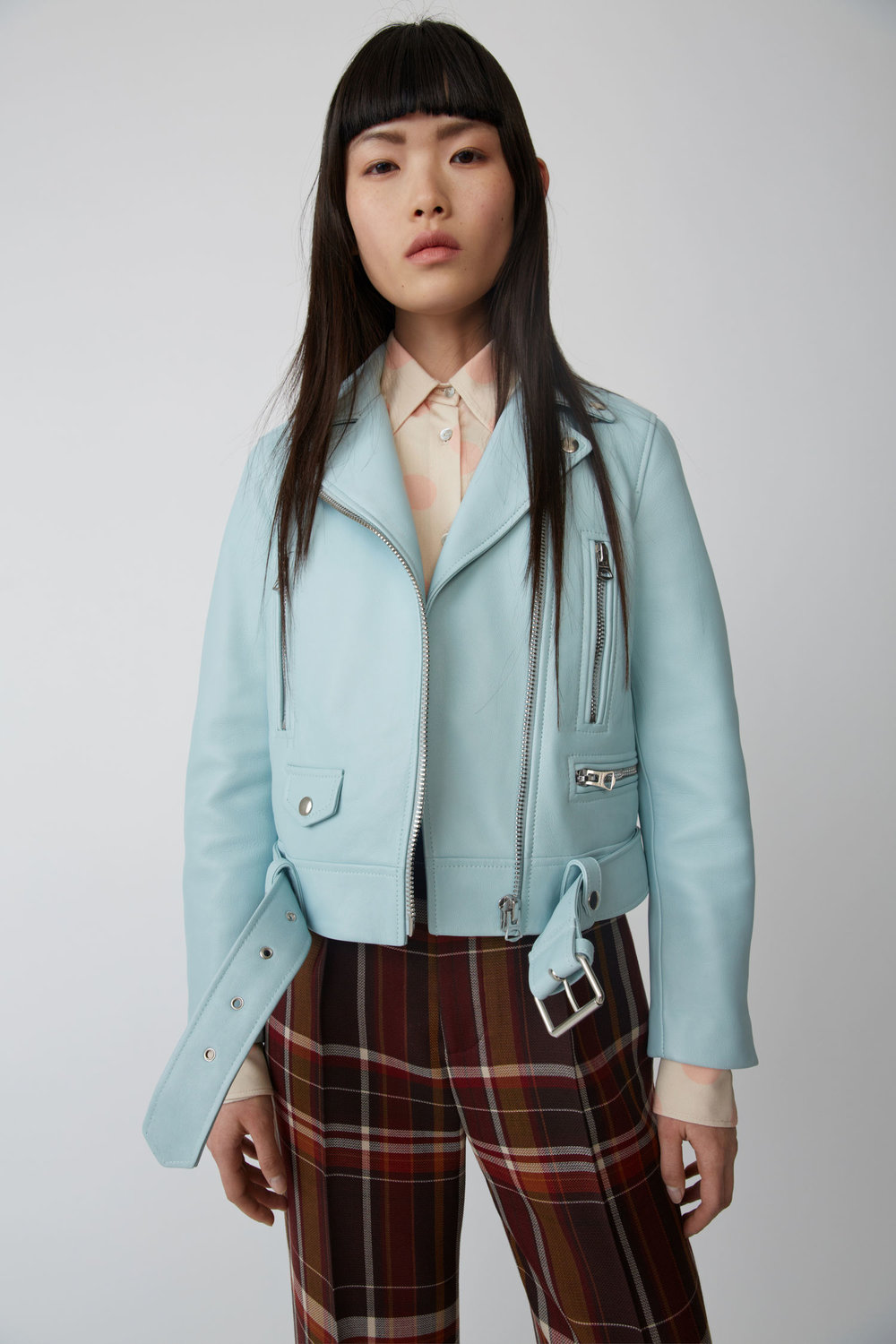 Acne Studios Motorcycle Jacket, £1200 - There's nothing more ACNE than a pastel green motorcycle jacket. And there's nothing more cool than ACNE. Put two and two together and you'll get four…as in we're crazy for this stand out leather piece.