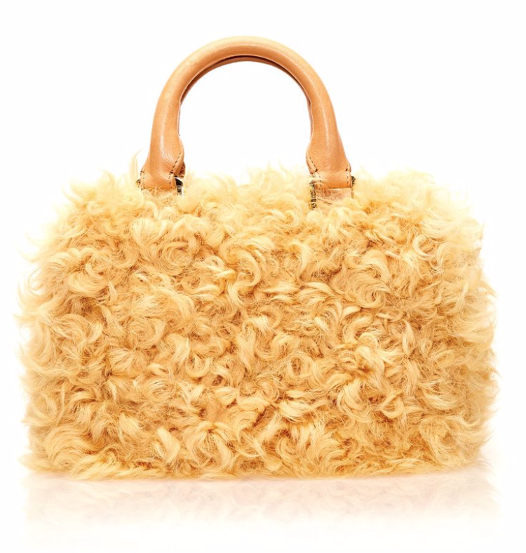 BROTHER VELLIES MANGO CURLY GOAT BAG -