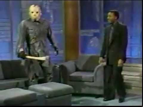 Jason Voorhees on The Arsenio Hall Show in 1989.