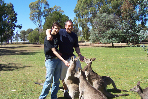 The author and Greg having a relaxing time in Australia.