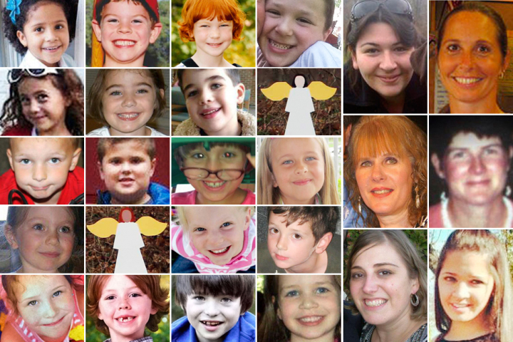 Victims of Sandy Hook Elementary School shooting.