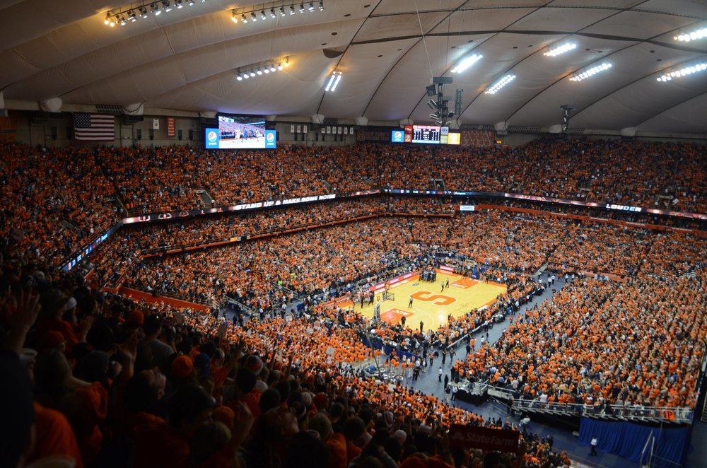 The Carrier Dome in full swing for visiting Duke.