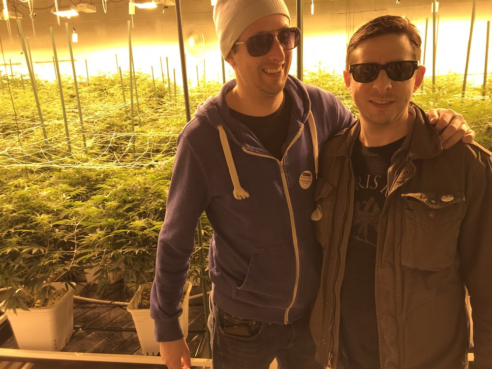 The author and his brother obeying the law on a local Denver farm.