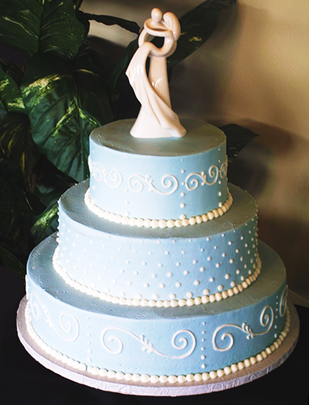 A normal God-approved wedding cake from Masterpiece Cakeshop.