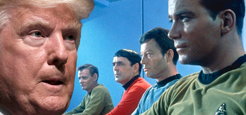 Captain Trump blames his predecessors. This awesome image from  https://www.salon.com/2016/09/07/star-trek-in-the-age-of-trump-why-we-need-its-50-year-mission-now-more-than-ever/