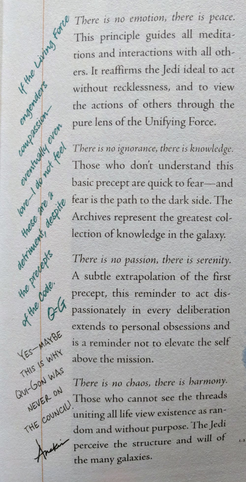 An excerpt from  The Jedi Path: A Manual for Students of the Force .