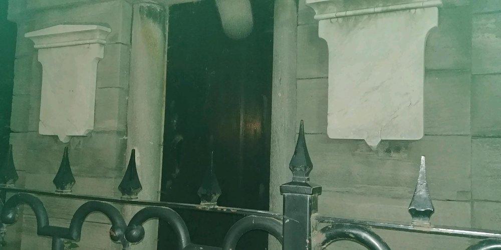 Mom's photo of the mausoleum door.