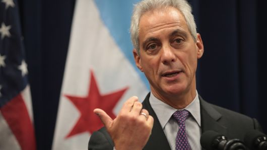 Mayor Rahm Emanuel tells the City of Chicago to just fuck right off.