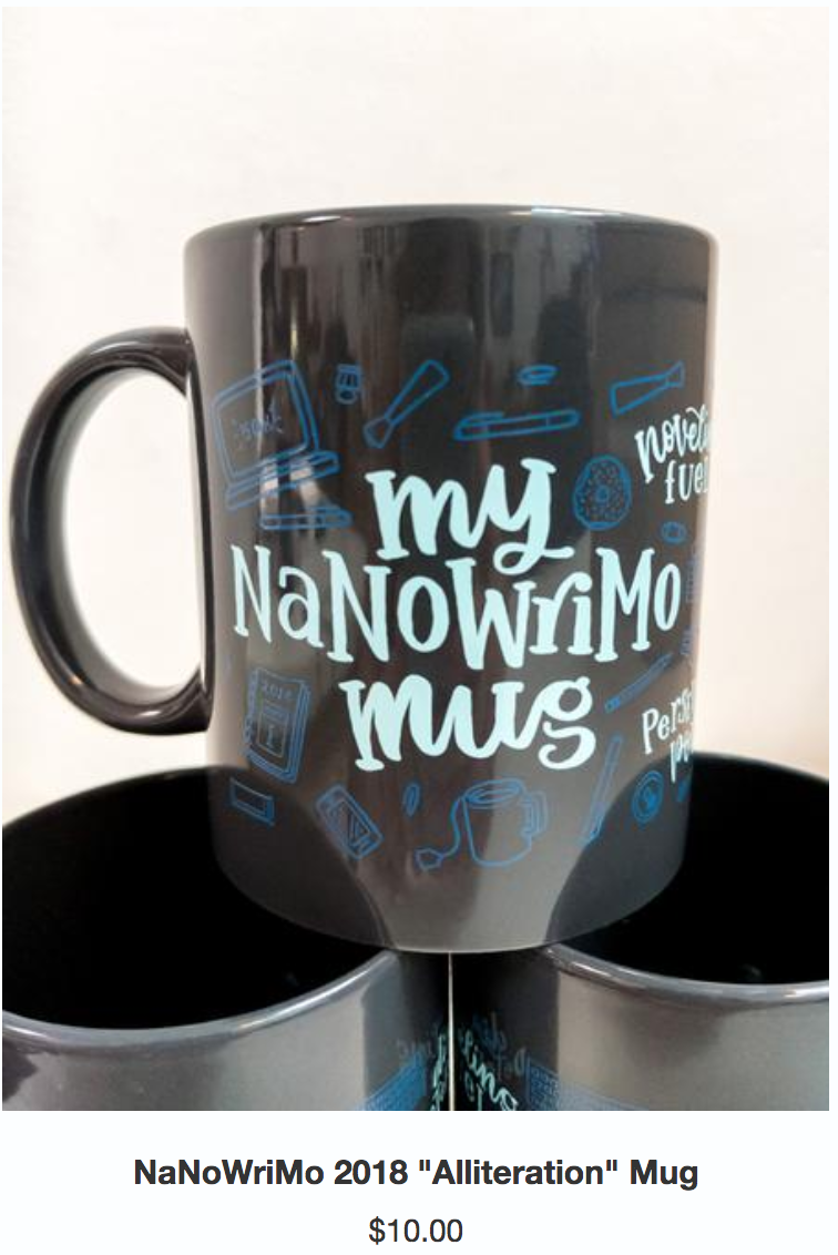 Cute, isn't it? It's actually for sale at the  NaNoWriMo Store .
