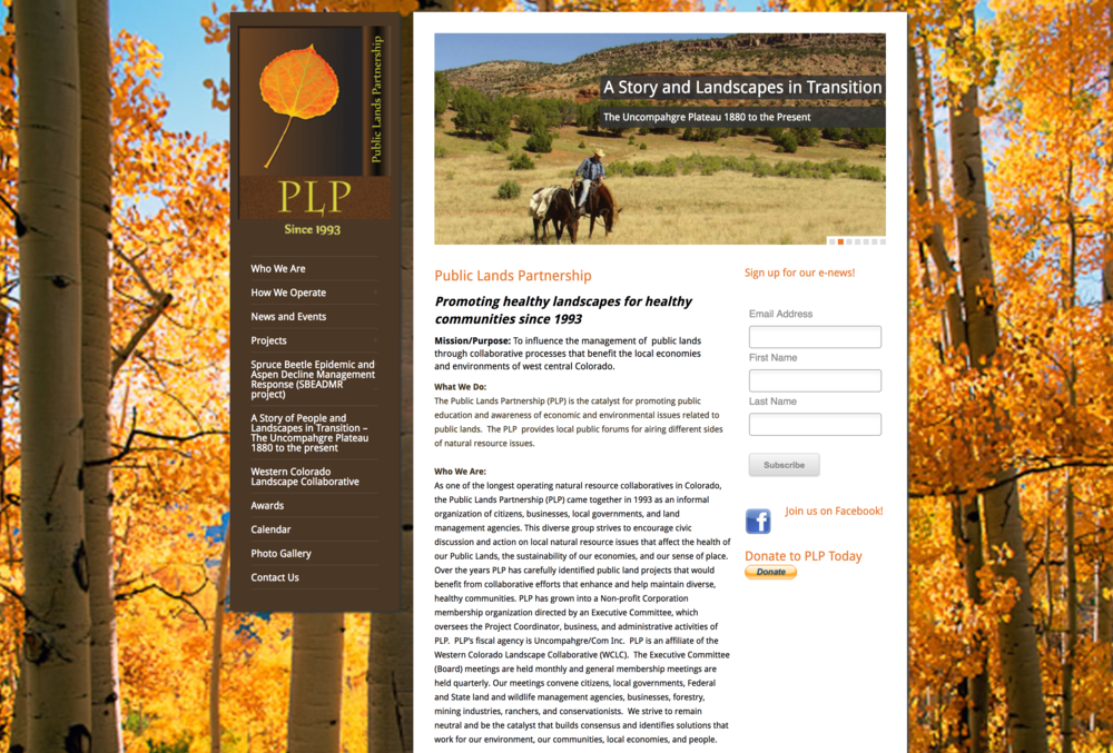 Public Lands Partnership, a partner of the Western Colorado Landscape Collaborative