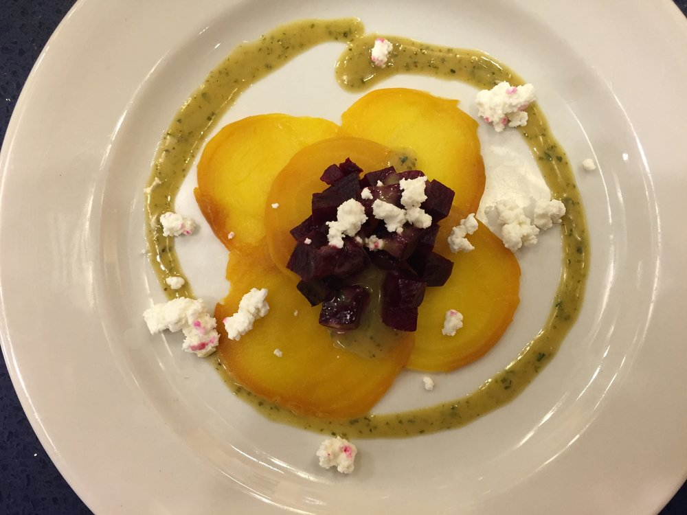 Red and Golden Beet Salad with Dijon Vinaigrette
