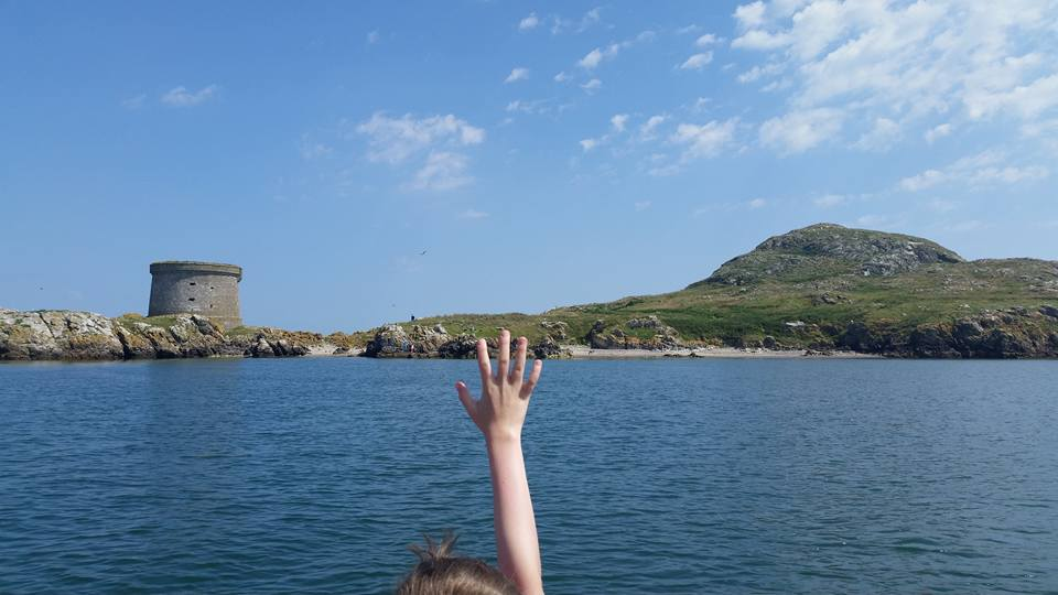 Making my way to Ireland's Eye from the dock at Howth Summit with some other excited visitors.