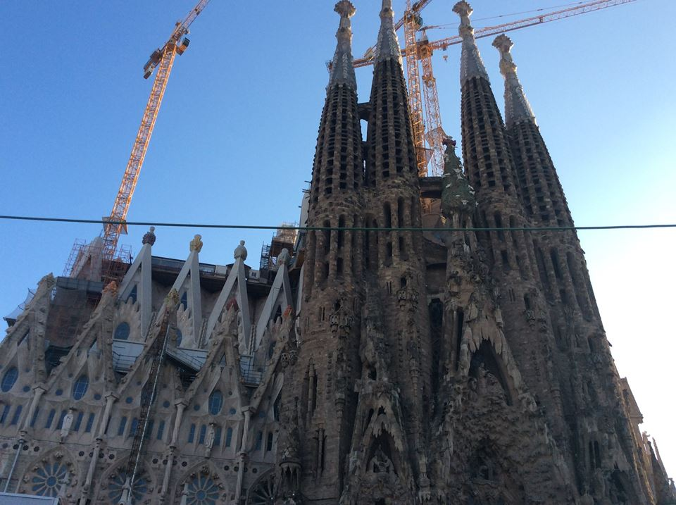 The Sagrada Familia here and below.