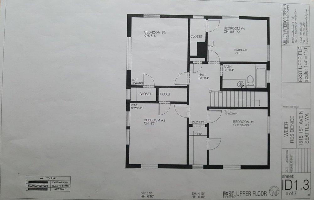 Existing Upper Floor Plan