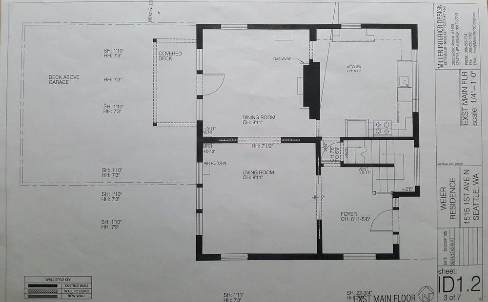 Existing Main Floor Plan
