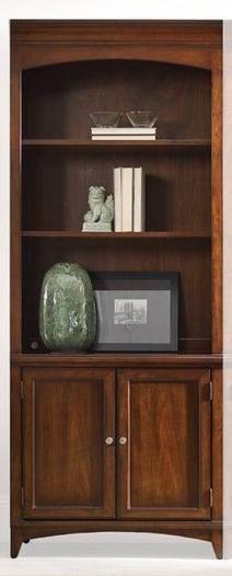 {F-7} Hooker Palisade Latitude 2 Door 3 Shelf Bookcase