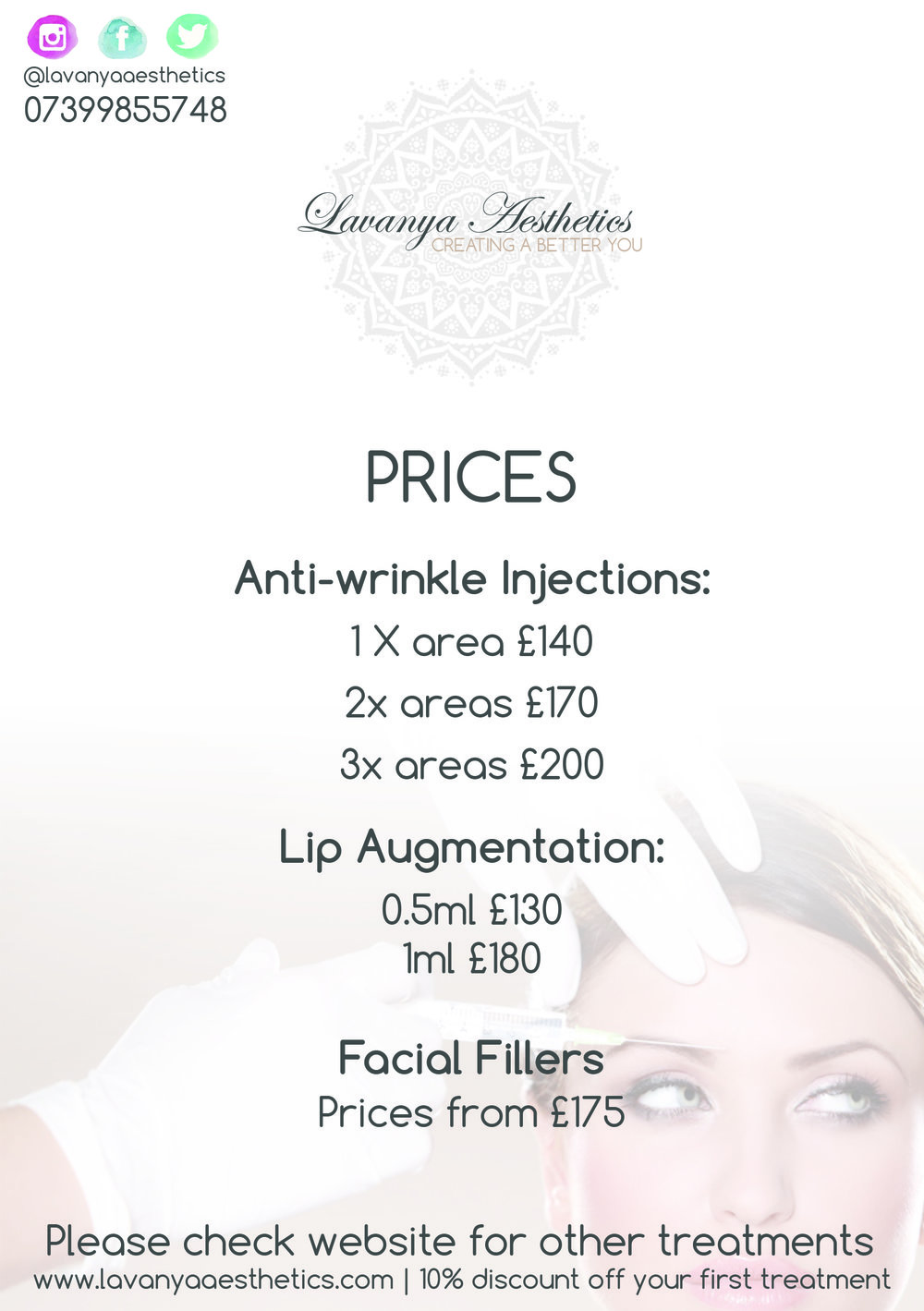 Lavanya Aesthetics A5 Promotional Flyer