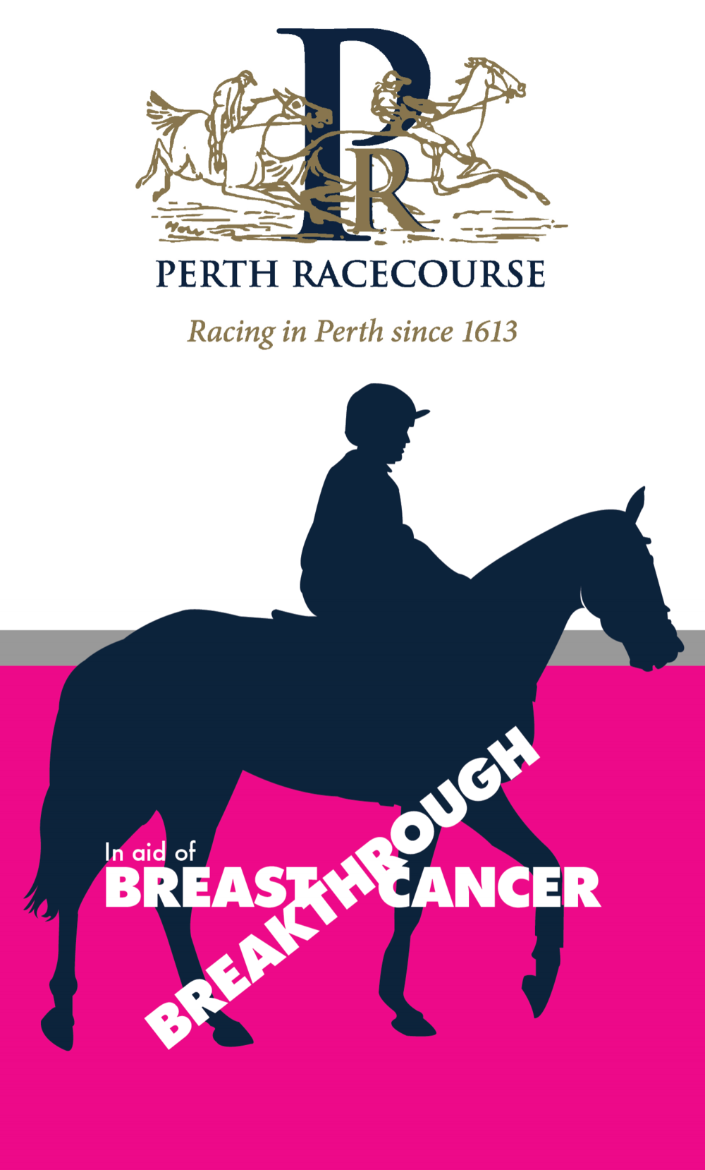 Breakthrough Breast Cancer - Front Page of Perth RacecourseProgramme