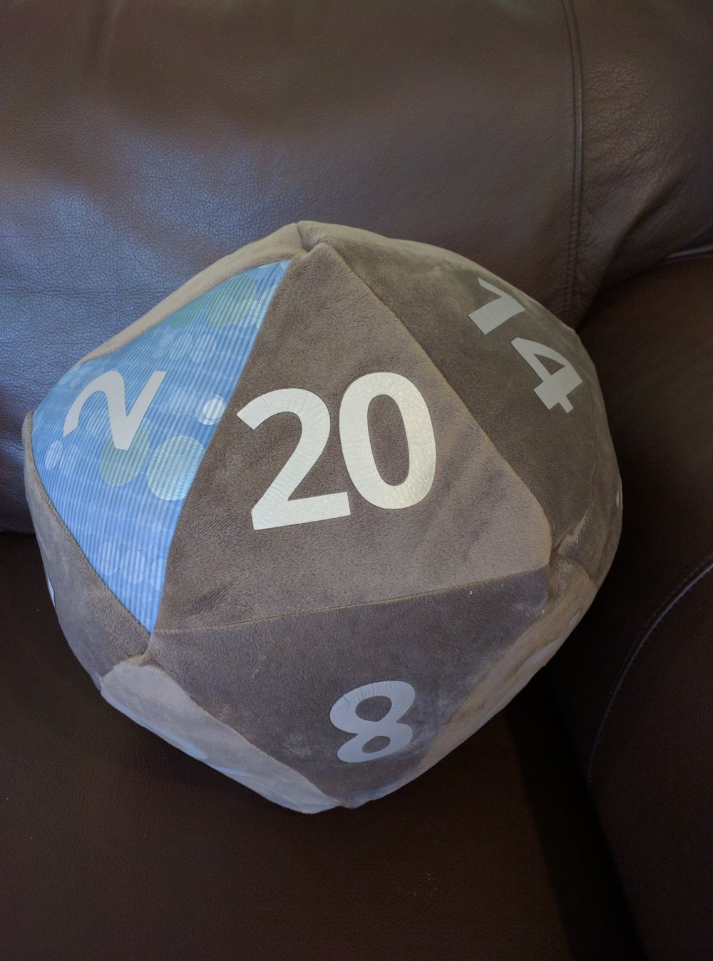 Custom Grey velvet with silver, Blue vinyl on the prime numbers