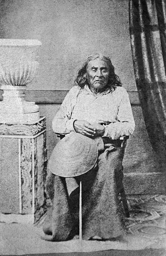 The only known photo of Chief Seattle, 1864 - Src: Wikipedia