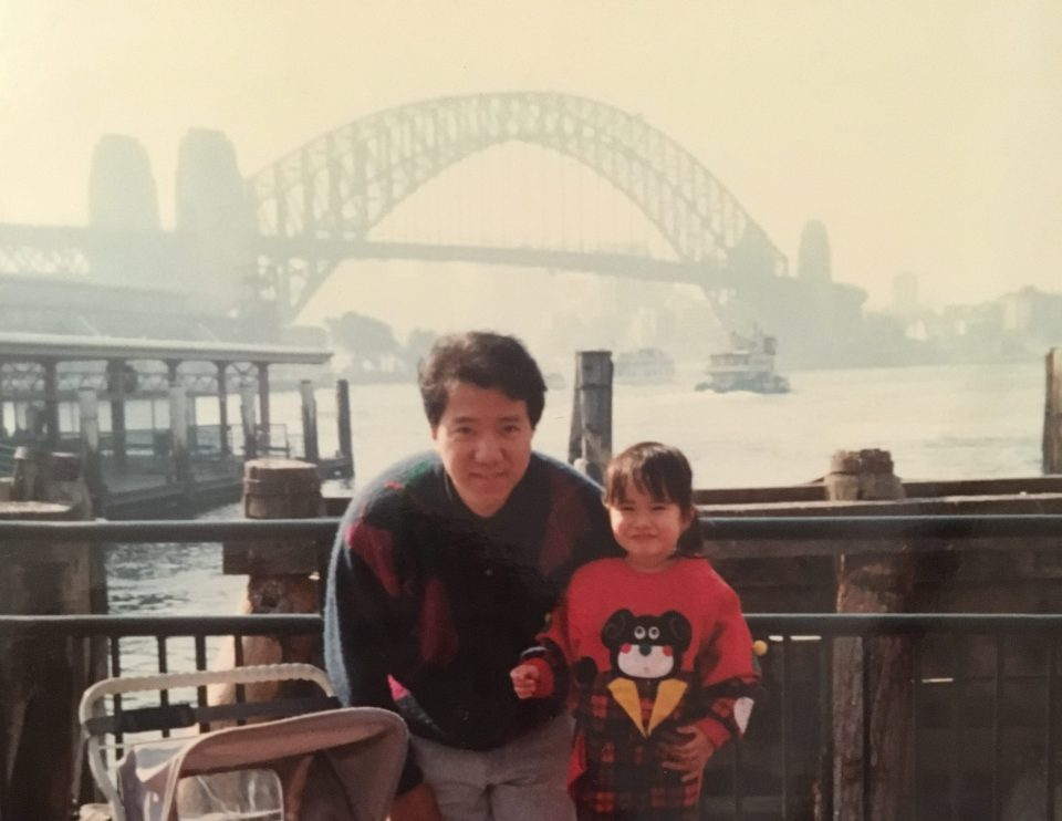 Dad and I in Sydney, 1991