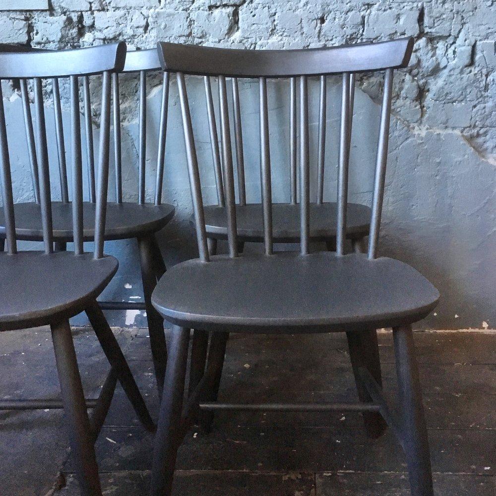 x6 black spindleback chairs £150.jpg