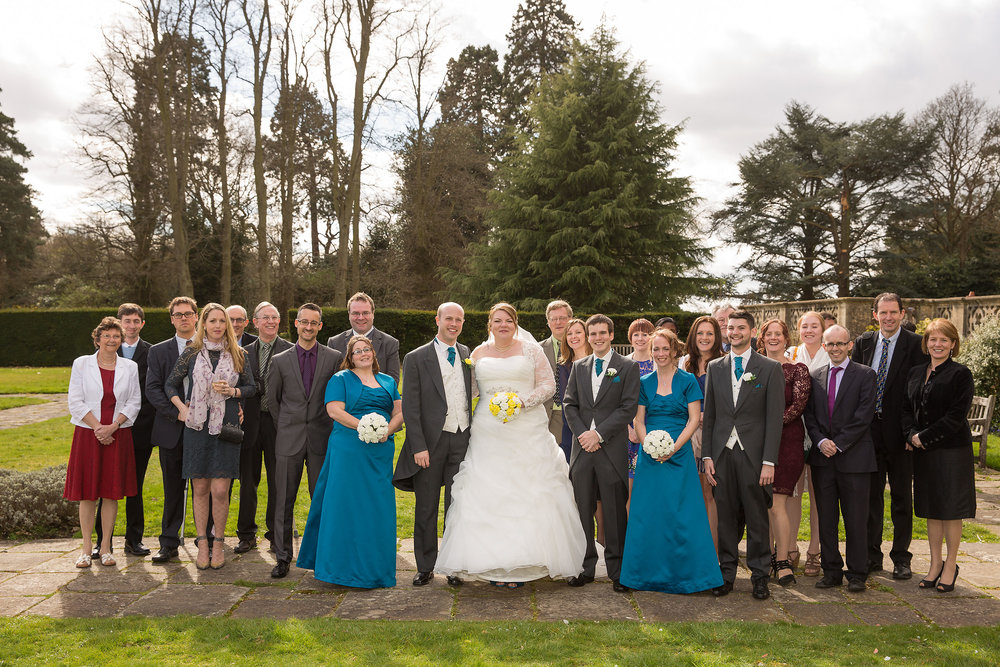 You can choose the gardens as a backdrop to your group photographs.