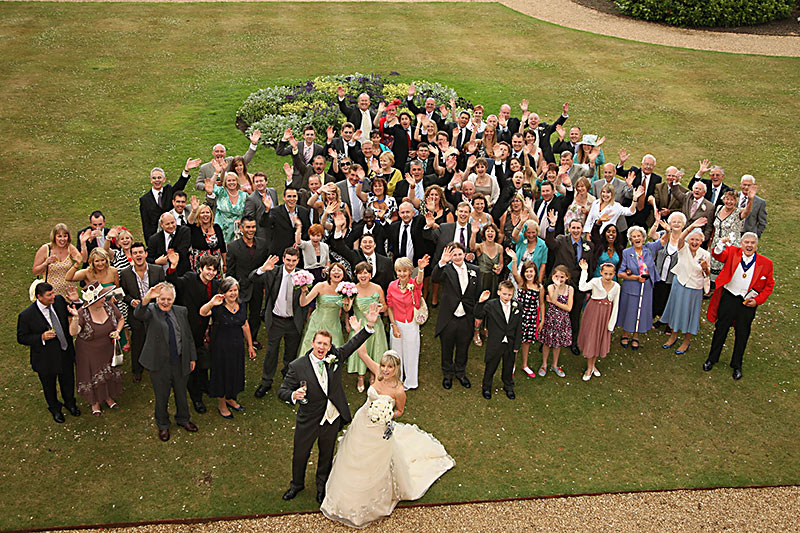Everyone wedding group photo