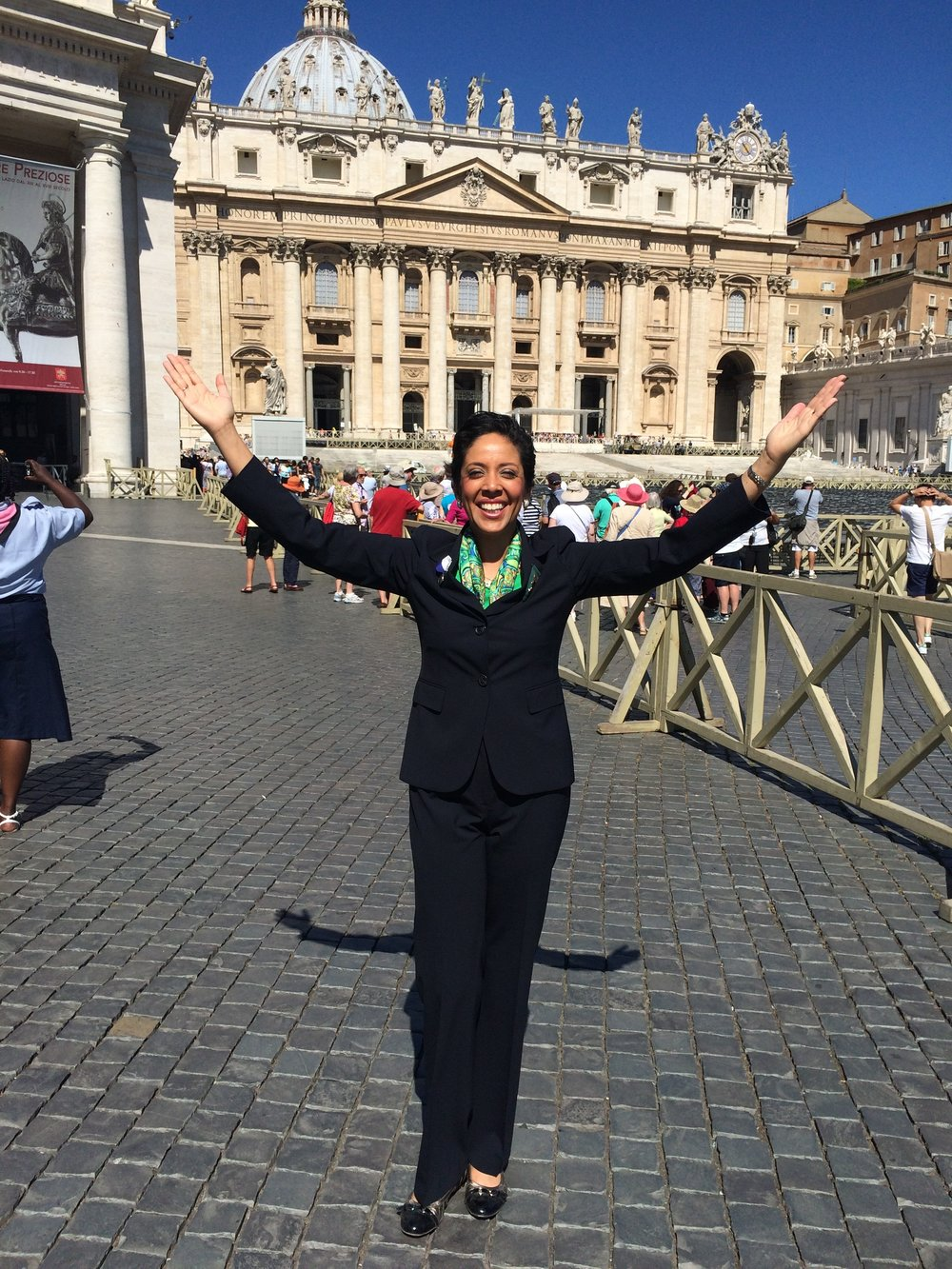 Anna Maria Chávez at the Vatican