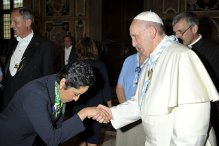 Pope Francis and Anna Maria Chávez Meeting